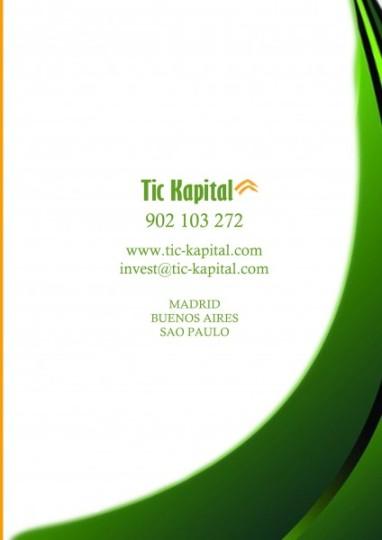 Dossier Tic Kapital, datos contacto, telefono, dirección, email, ayuda a emprendedores