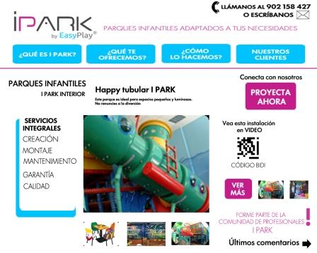 I Park landing page, parques infantiles adaptados, creación, mantenimiento, calidad, garantía,modernos, imagenes de parques