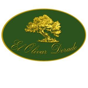 logotipo de aceite, verde y dorado, olivar dorado