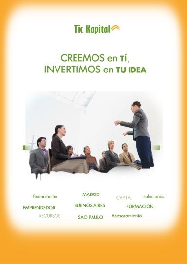 Dossier portada Tic Kapital, Fondo Tic, capital de inversión, emprendedores