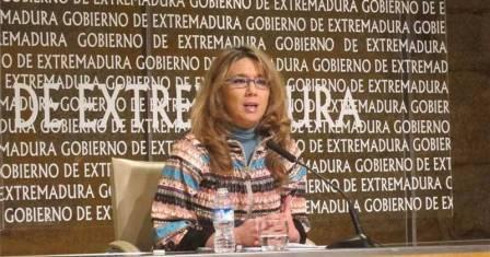 La vicepresidenta Cristina Teniente durante la rueda de prensa tras el Consejo de Gobierno.