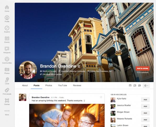 Google + nuevos cambios 2013